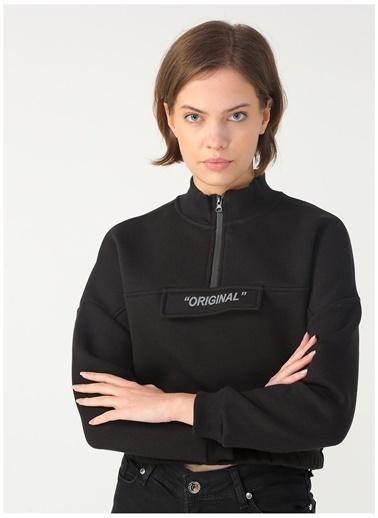 Limon Company Limon Dik Yaka Siyah Kadın Sweatshirt Siyah